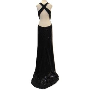Sherri Hill sexy black prom dress cutout train 10